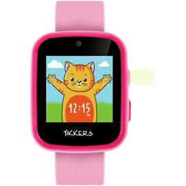 Tikkers Kids Time Teacher Pink Silicone Strap Smart Watch