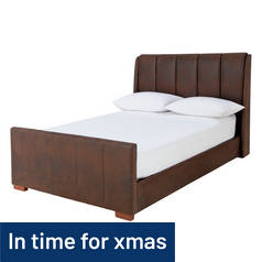 Argos Home Buck Kingsize Bed Frame - Dark Tan