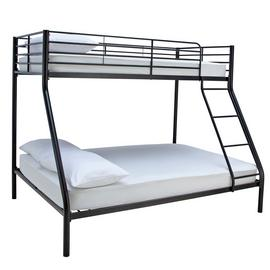 Argos Home Willen Black Triple Bunk Bed & Kids Mattress
