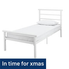 Argos Home Avalon Single Bed Frame - White