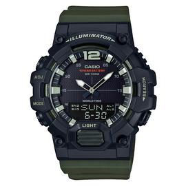 Casio Men's Count Up Bezel Green Resin Strap Watch