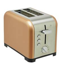 Cookworks 2 Slice Toaster - Copper