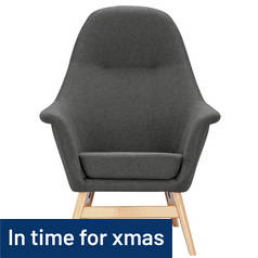 Argos Home Reuben Fabric Chair - Charcoal