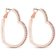 Lipsy Rose Colour Large Crystal Heart Hoop Earrings