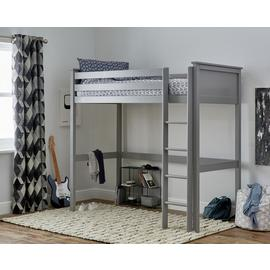 Argos Home Brooklyn Grey High Sleeper Bed Frame