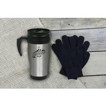 Scott & Lawson Travel Mug and Touch Screen Gloves Set