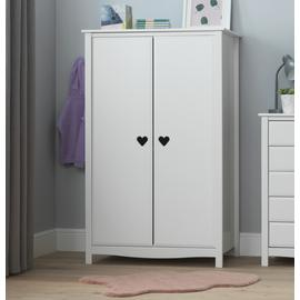 Argos Home Mia 2 Door Short Wardrobe - White