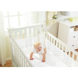 BreathableBaby 4 Sided Twinkle Twinkle Grey Cot Liner