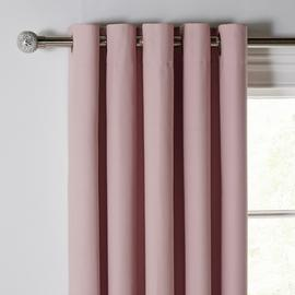 Argos Home Blackout Thermal Eyelet Curtains - Blush