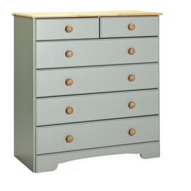 Argos Home Nordic 4+2 Drawer Chest - Grey & Pine