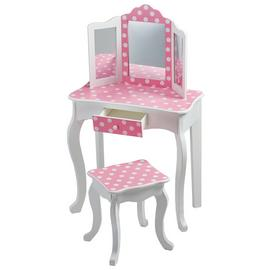 Teamson Kids Gisele Polka Dot Vanity Table & Stool