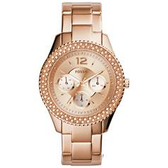 Fossil Ladies Stella ES3590 Rose Gold Tone Chronograph Watch