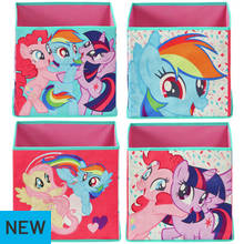 Argos Home My Little Pony Canvas Boxes - Set of 4