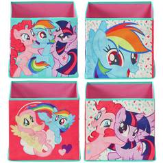 Argos Home Set of 4 My Little Pony Canvas Boxes