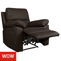 Argos Home Toby Faux Leather Manual Recline Chair -Chocolate