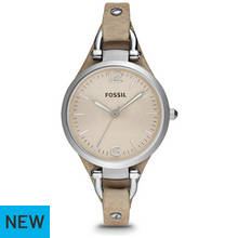 Fossil Ladies' Georgia ES2830 Brown Leather Strap Watch