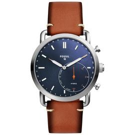 Fossil Commuter Hybrid Men's Brown Leather Smart Watch