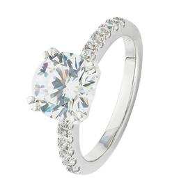 Revere Sterling Silver Cubic Zirconia Shoulder Ring