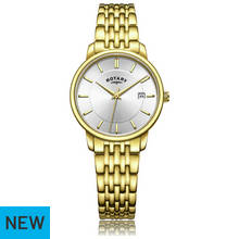 Rotary Ladies' Gold Plated Bracelet Watch
