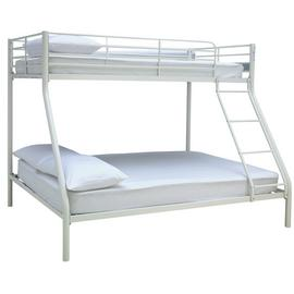 Argos Home Willen White Triple Bunk Bed & 2 Mattresses
