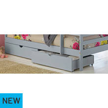 Argos Home Josie Pair of Single Drawers - Grey