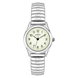Limit Ladies Glow Dial Silver Coloured Expander Watch