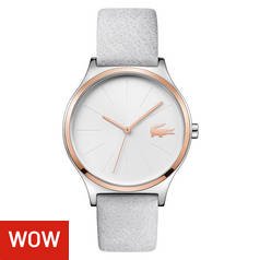 Lacoste Ladies' Nikita Rose Colour Grey Leather Strap Watch