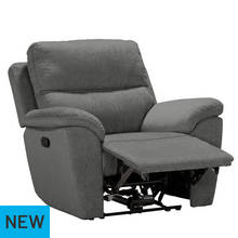 Argos Home Sandy Manual Recliner Chair - Charcoal