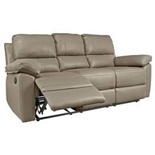 Argos Home Toby 3 Seater Faux Leather Recliner Sofa - Grey