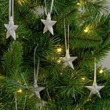 Argos Home Glitter Stars Tree Decorations - 12 Pack