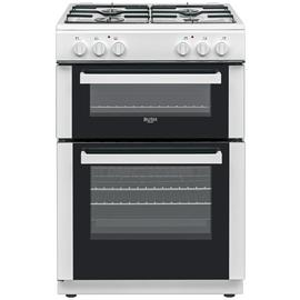 Bush DHBDFDBL60W 60cm Double Oven Dual Fuel Cooker - White