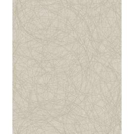 Graham & Brown Twist Wallpaper - Taupe & Silver.