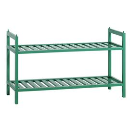 Habitat Kitt Bamboo 2 Shelf Shoe Rack - Green