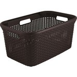 more details on Curver 45 Litre Rattan Basket Dark Brown.