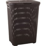 more details on Curver 60 Litre Rattan Hamper Dark Brown.
