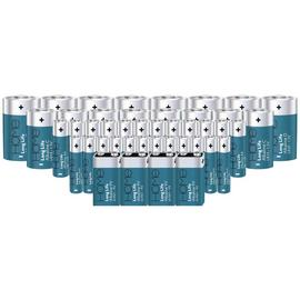 Argos Home Ultra Alkaline Battery Variety Bundle -Pack of 44