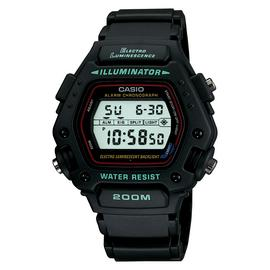 Casio Men's Black Resin Strap Electro Luminenscence Watch