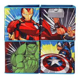Argos Home Set of 4 Avengers Canvas Box