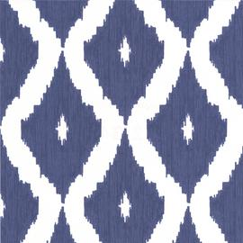 Kelly Hoppen Ikat Blue Wallpaper