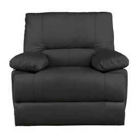 Argos Home Devlin Leather Mix Manual Recliner Chair - Black