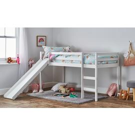 Argos Home Kaycie White Mid Sleeper with Slide