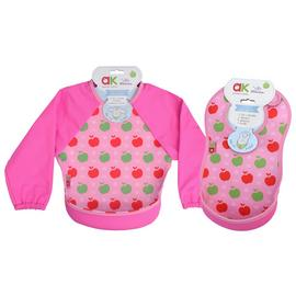 Bibetta Annabel Karmel Pink Bib with Sleeves - 2 Pack