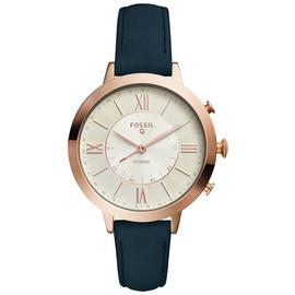 Fossil Ladies' Jacqueline Leather Strap Hybrid Smart Watch