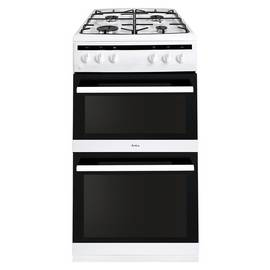 Amica AFG5500WH 50cm Double Oven Gas Cooker - White