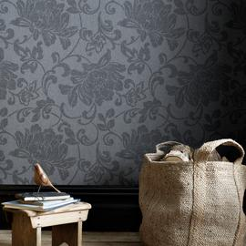 Superfresco Easy Jacquard Charcoal Wallpaper