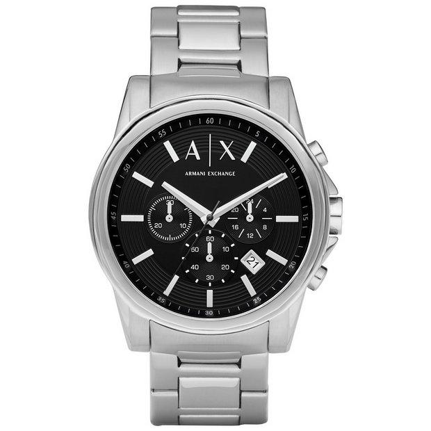 61c4f125b Buy Armani Exchange Men's Chronograph Stainless Steel Watch | Men's watches  | Argos
