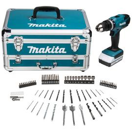 Makita G-Series Cordless Hammer Drill with 70 Accessories