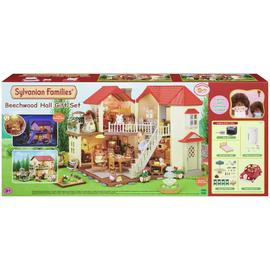Sylvanian Families Beechwood Hall and Saloon Car Gift Set