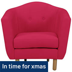 Argos Home Elin Fabric Chair - Red