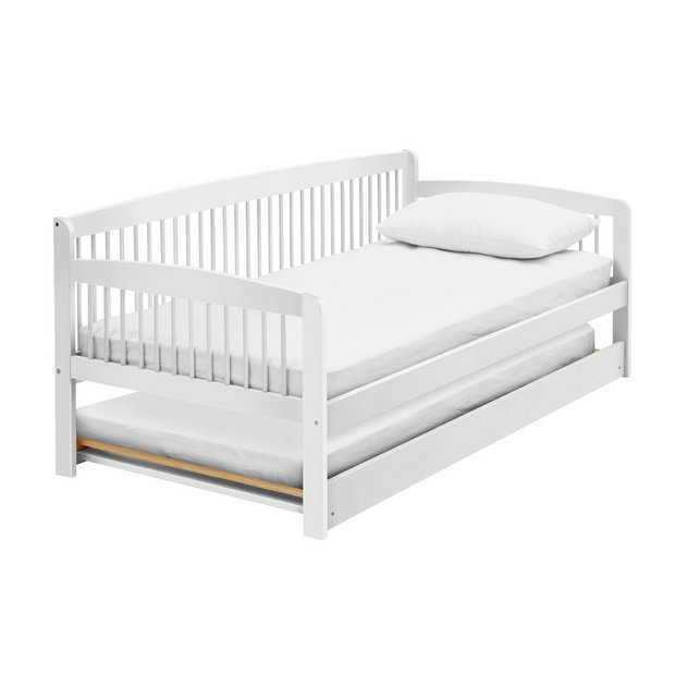 Buy Argos Home Andover White Day Bed With Trundle 2 Mattresses
